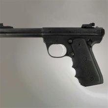Hogue 82080 Ruger 22-45 RP Rubber Grip with Finger Grooves, Black