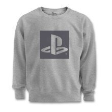 PlayStation Logo Cut Out Grey Sweater
