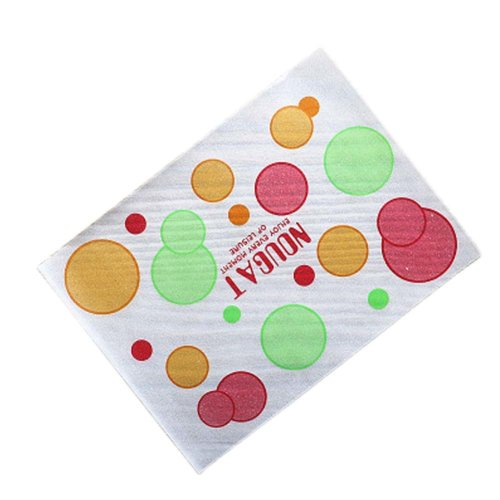 100 Pcs Nougat Making Wrappers Paper Christmas Candy Wrapping Twisting Wax Papers, 10