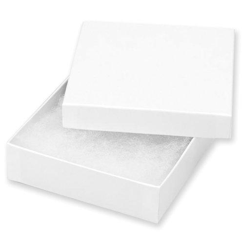"Jewelry Boxes 3.5""X3.5""X1"" 6/Pkg-White"