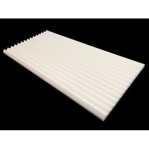 Mel-Acoustic Wedge 40mm White Melamine Acoustic Foam Panel 600x1200