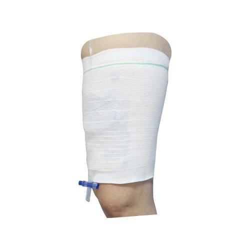 Urine Catheter Leg Bag Carer Leg Holder Comfort Sleeve for Incontinence Supporting Attached 2pcs Large