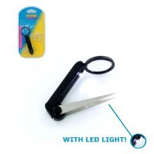 LED Light Magnifier Tweezers - Modelcraft Pack 1 -  modelcraft led magnifier tweezers pack 1