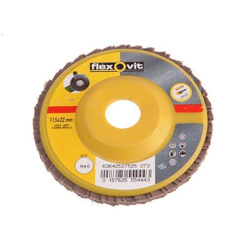 Flexovit 63642527528 Flap Disc For Angle Grinders 125mm 40g Pack of 1
