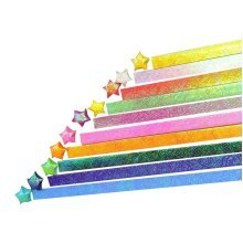 540 Sheets DIY Glitter Bling Shiny Lucky Wish Star Origami Paper