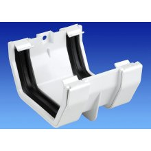 Wavin OSMA Squareline Jointing Bracket 100mm White 4T805w