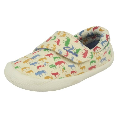 Boys Clarks Doodles Casual Shoes Choc Ice - F Fit