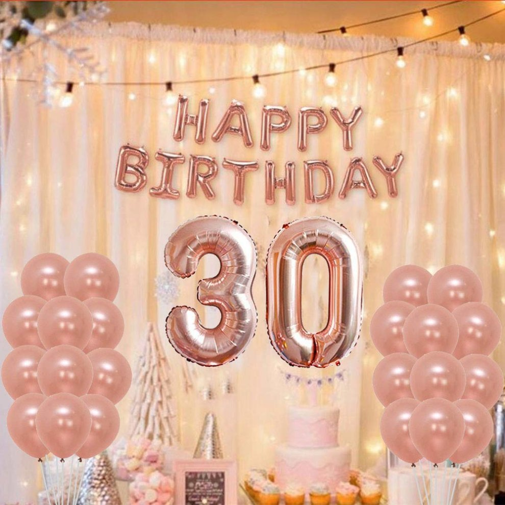 Yoart 30th Birthday Decorations Rose Gold Party Sets Happy Banner