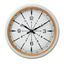 White and Gold Modern Large Wall Clock- 53cm Diameter- Stylish
