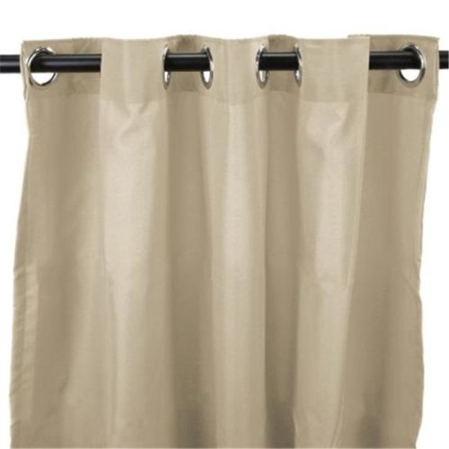54 in. x 84 in. Outdoor Curtain - Solid Linen