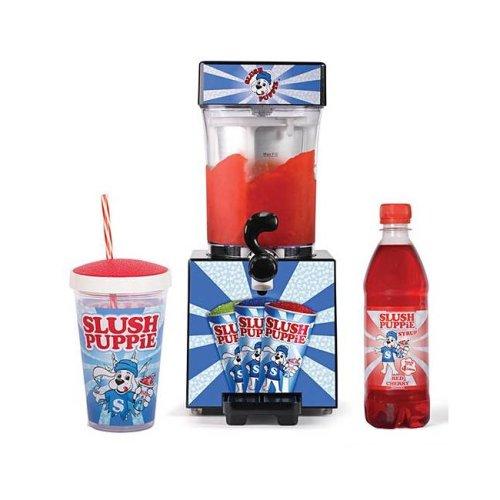 Slush Puppie Gift Set Bundle - Slush Maker, Cherry Red Syrup, Straw Cup