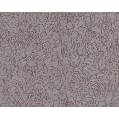EDEM 9040-22 Flowers wallcovering wall shiny grey brown 10.65 sqm
