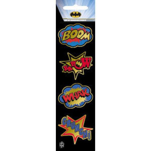 Sticker - DC Comics - Batman - Action Bursts Metal (Set of 4) s-dc-0169-m-s