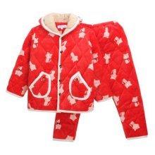 Children Pajamas Warm Thick Cotton Winter Suit Modern Set Sleepwear/Nightwear Clothes for Home, D8