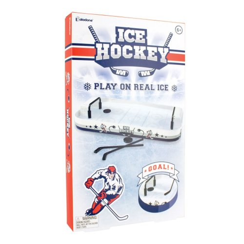 Ice Hockey Desktop Game Freeze & Play Table Top Mini Set With Real Ice Rink