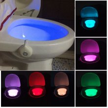 8 Colors Changing Toilet Lights Motion Activated Night Lights Squatting Toilet LED Lamps