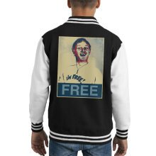 Are You Being Served Mr Humphries Im Free Poster Style Kid's Varsity Jacket