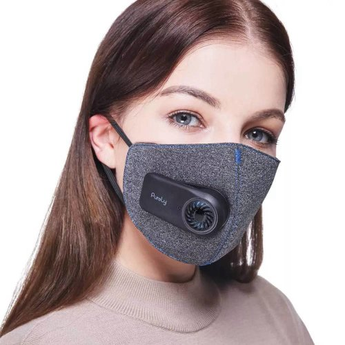 Breathing Mouth Air Filter Mask Fan Quiet Block PM 2.5 Passive Smoke