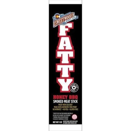 Sweetwood Cattle 2100279 1 oz Fatty Honey BBQ Meat Stick - Case of 20