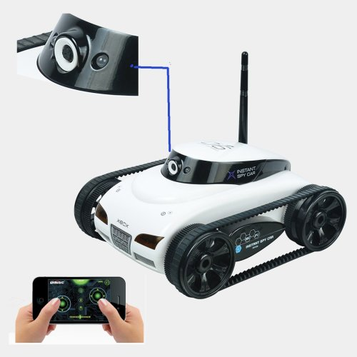 Remote Radio Control WIFI i-Spy Tank White Edition Iphone Ipad