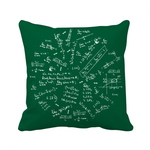 Seeking Limits Mathematical Formulas Throw Pillow Square Cover