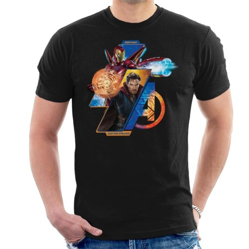 Marvel Avengers Infinity War Iron Man And Doctor Strange Men's T-Shirt