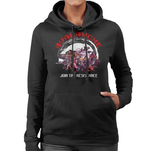 Avalanche Join The Resistance Final Fantasy VII Women's Hooded Sweatshirt