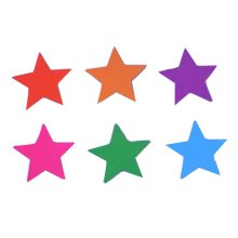 Set Of 6 Funny Five-pointed Star Magnetic Whiteboard Flowers Magnet