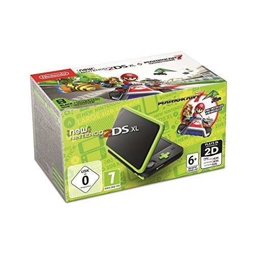 New Nintendo 2DS XL - Pre-installed with Mario Kart 7 (Black / Lime Green) (Nintendo 3DS) (EU Version) (New)
