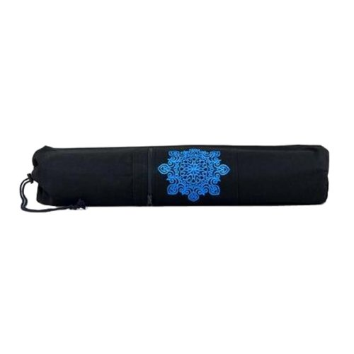 Black Canvas Pouch Yoga Mat Tote Bag Carrier:  Lightweight, Durable, Breathable