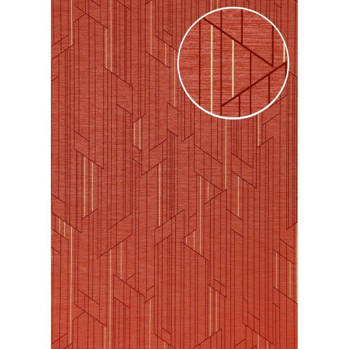 ATLAS XPL-565-2 Graphic wallpaper shimmering red strawberry red 5.33 sqm