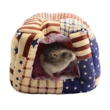 Lovely Soft Pet House with Bed Mat for Small Furry Animals,14*13*12 CM,Keep Warm