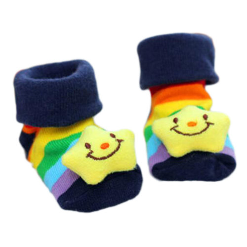 3 Pairs Non-slip Newborn Baby Toddler Socks Comfortable Warm Stockings Baby Birthday Gift For 6-12 month-A09