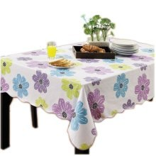 Three colors flower Rectangular Tablecloth (152*203cm)