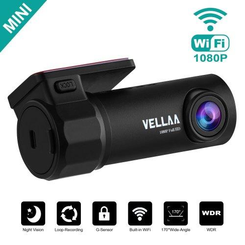 VELLAA Car Dash Cam, Mini Car Camera