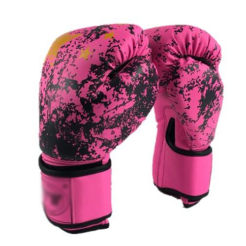 Leopard Print 8oz Boxing Gloves Sparring,Red