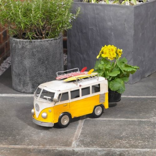 Craftsman Large Metal Campervan Garden Flower Planter Indoors or Outdoors