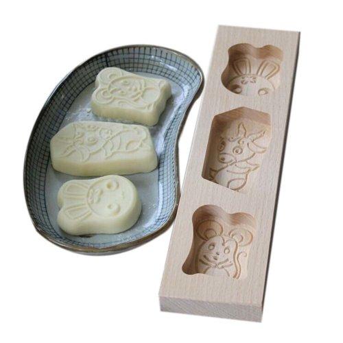 Dessert Baking Molds/Wooden Carving Baking Molds, Lovely Animal(29*7.2*2.2cm)