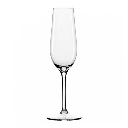 Dartington Crystal Champagne Flutes Set of Six Glasses
