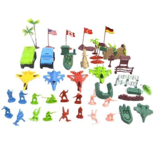 Soldier Scene Models Little Soldier Car Models Children's Toy Gifts - 45PCS