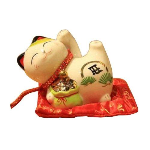 4 inches Japanese Lucky Cat High Quality Ceramic Maneki Neko Piggy Bank[A]