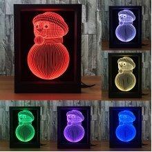 LED 3D Xmas Photo Frame Night Lights