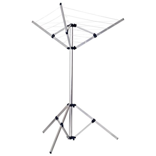 Top Home Solutions Freestanding 3 Arm Indoor/Outdoor Rotary Portable Folding Clothes Airer Dryer