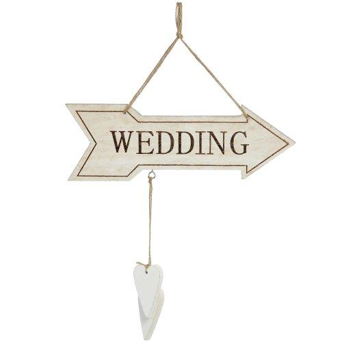 Vintage Cream Wedding Sign