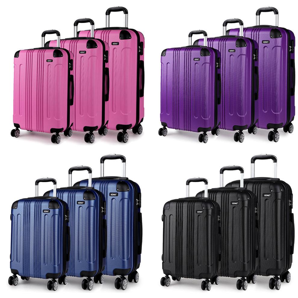 3bb2d808d8f3 KONO 4 Wheel Hard Shell Suitcase | Hard Shell Lightweight Suitcase