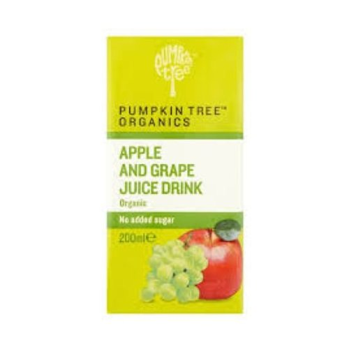 Pumpkin Tree Organic Apple & Grape Juice | 200ml x 12