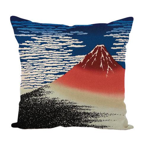 Decorative Linen Square Throw Pillow Japanese-style Cushion 45 X 45 CM