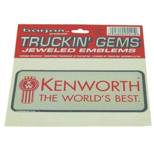 Barjan 455541 Kenworth Truckin Gems Jeweled Reflective Decal