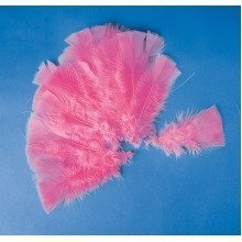 Pbx2470590 - Playbox - Easter Feathers W/ Wire (pink) - 48 Pcs