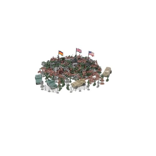306 Plastic Toy Soldiers for Army Military War Games Soldier Men Military Figures With 4 Combat vehicles